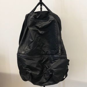 lululemon athletica Bags - Lululemon black nylon backpack, 70987